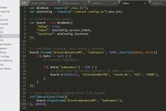Kod-java-script-światło